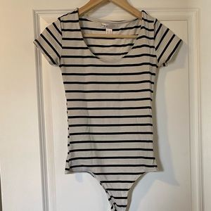 Urban Heritage Striped Body Suit (snap closure)